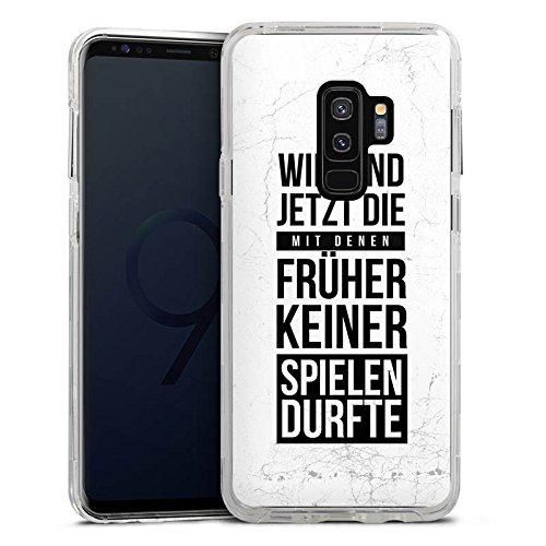 DeinDesign Samsung Galaxy S9 Plus Bumper Hülle transparent Bumper Case Schutzhülle Humor Fun Sayings