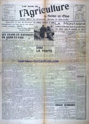 AMIS DE L'AGRICULTURE DE SEINE ET OISE (LES) [No 8] du 02/08/1941