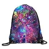 uykjuykj Tunnelzug Rucksäcke, Waterproof Drawstring Backpack for Men Women Gym School Travel Trippy Cool Lightweight Unique 17x14 IN
