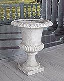 Unbekannt Gartenvase Weiss Kratervase Barock Amphore Gartengefäss Gartenamphore Palazzo Exklusiv