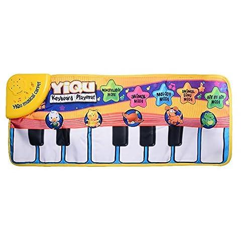 XCSOURCE Natte de Piano de Bébé, Tapis de Musique, Clavier de Jeu Touche, 6 Comédies Musicales de Modes Chantant pour 3 ou Enfants de Bébés plus vieux WV327 - Mat Piano