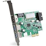 DONZO LT303 PCI Express Karte / PCIe Adapter mit 2 Port USB 3.0 extern + eSATA extern + eSATA Stromversorgung intern + 20 Pin USB 3.0 + 4 Pin Stromversorgung mit NEC UPD720201 Chipsatz