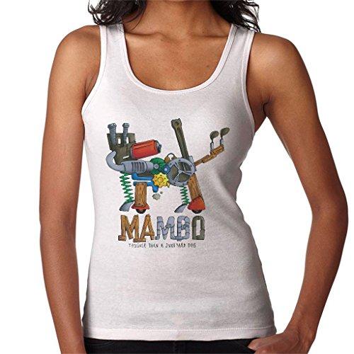 Mambo Junk Yard Dog Women's Vest White