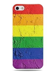 """GRÜV Premium Case - """"Rainbow Flag Pride Love Graffiti Art"""" Design - Best Quality Designer Print on White Hard Cover - for Apple iPhone 5 5G 5S"""