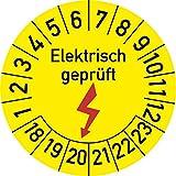Elektrisch geprüft Prüfplakette, 100 Stück, in verschiedenen Größen, Prüfetikett Prüfsiegel Plakette Elektroprüfung (30 mm Ø)