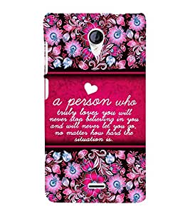 Amazing Love Quote 3D Hard Polycarbonate Designer Back Case Cover for Micromax Canvas Unite 2 A106