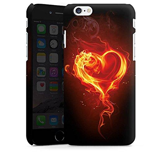 Apple iPhone X Silikon Hülle Case Schutzhülle Liebe Flammen Herz Brennendes Herz Premium Case matt