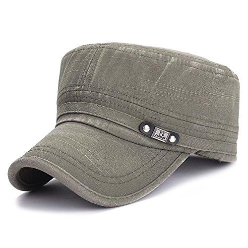iShine Basecap Retro Alten Imitating Baumwolle Atmungsaktive Anti-UV Größe Justierbare Uni für Vier Jahreszeiten einfache Art Unisex Damen Herren Hut Grün (Einstellbare Hut Golf Nfl)