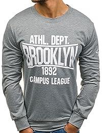 BOLF – Sweatshirt – Style sportif – U-neck – Imprimé – Homme 1A1