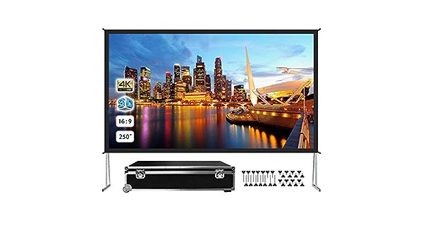 Tragbare Projektor-Leinwand f/ür den Innen- und Au/ßenbereich leicht und faltbar 3D und HDR-Ready Video 120 x 90 cm // 47.2 x 35.4 inches wei/ß geeignet f/ür 4K Ultra HD