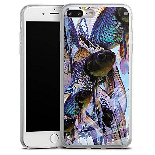 Apple iPhone 8 Plus Slim Case Silikon Hülle Schutzhülle HIEN LE Fashionweek Fische Silikon Slim Case transparent