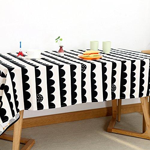 WFLJL Nappe Salon Rural Caricature Table basse blanc 90*90cm