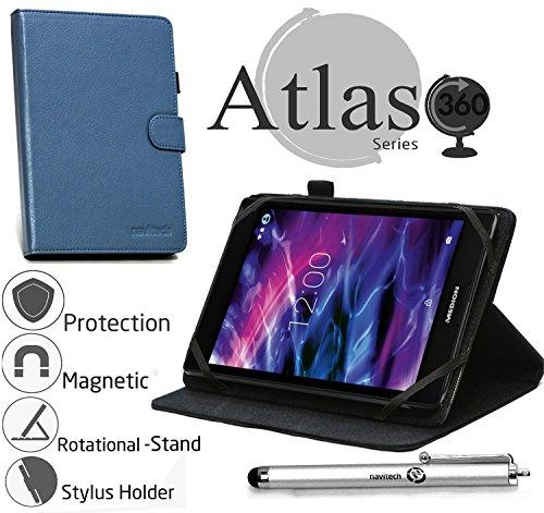 Navitech Blau 8 Zoll rotierbares Stand Case Cover Etui Hülle für das MEDION LIFETAB P8312 / P8311 (MD 99334) Wie In Aldi Verkauft
