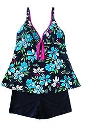 Ms Grande Tamaño De Dos Piezas Tipo Vest Boxer Diseño Y Color Spa Traje De Baño Bikini
