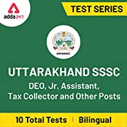 Adda247 - Uttarakhand SSSC DEO, Jr. Assistant, Tax Collector and Other Posts 2020 Online Test Series (Email De