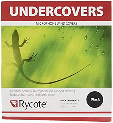 Rycote 065101 Undercover for Lavalier Microphone - Black (Pack of 30)