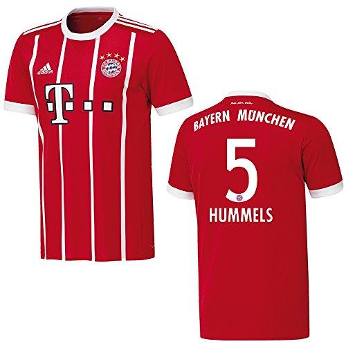 Adidas Bayern Camiseta Home Hombre 2018–Hummels 5, Small