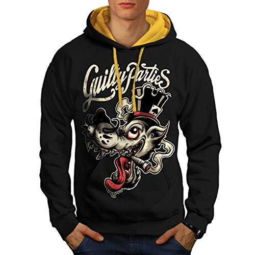 old-dirty-wolf-cigar-smoke-men-new-black-gold-hood-m-contrast-hoodie-wellcoda