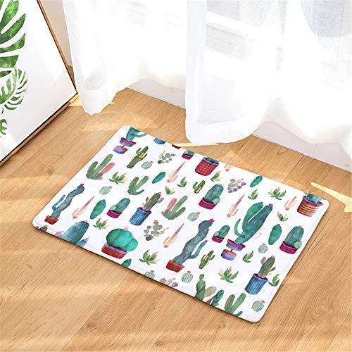 LZYMLG Pflanzendruckmatte für Schlafzimmer, Wohnzimmer, Küche, saugfähige Matte, B, 50x80cm