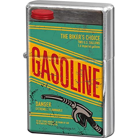 Nostalgic-Art 80256 Biker's Corner Gasoline, Feuerzeug
