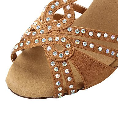 Scarpe da ballo - Non personalizzabile - Donna - Sala da ballo / Latinoamericano / Salsa - Tacco spesso - Satin - Altro bronze