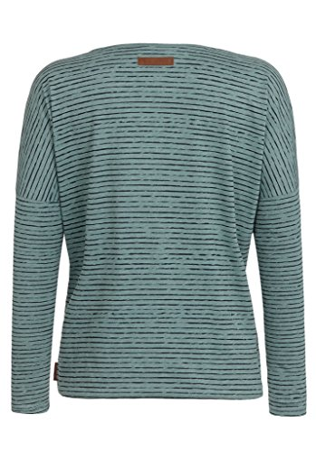 Naketano Female Sweatshirt Zeich ma Titten V Green Melange