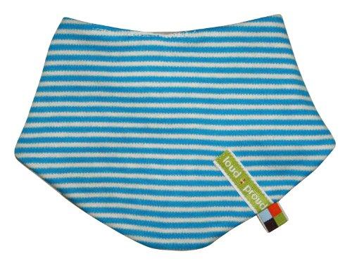 Loud + Proud - Bufanda a rayas para bebé, talla One Size - talla alemana, color aqua