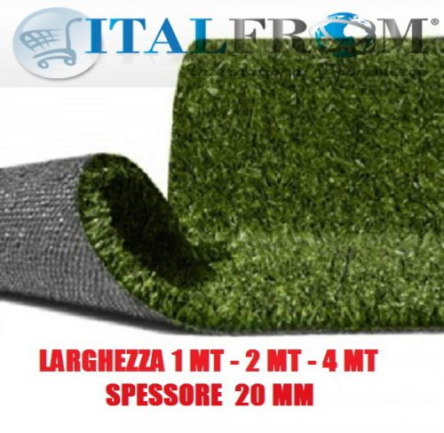 Prato Sintetico 20 mm h4 Finta Erba Tappeto Giardino Calpestabile (4x3m)