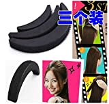 ThinkMax 3pcs Hair Base Bump Insertion Tool Styling Volume Princess Styling Crescent Modelling Hair Paste Sponge Pad Hair Accessories