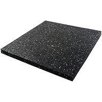Dalle anti vibration etm® pour machine à laver/sèche linge   épaisseur 2cm   attenue les vibrations - évite dérapage   isolant accoustique - 60x60cm