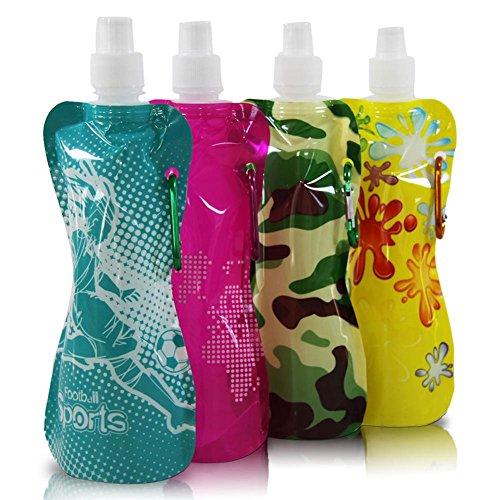 Preisvergleich Produktbild 3 x HC-Handel 912003 Getränkeflasche Pausenflasche Bottle 400 ml in verschiedenen Ausführungen