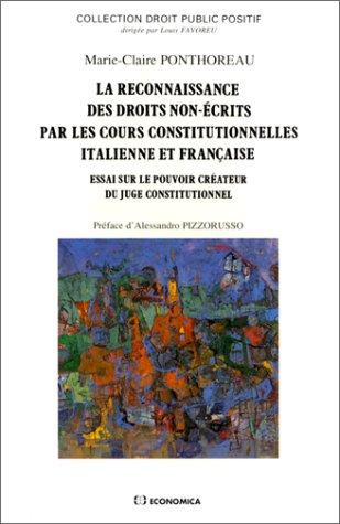 La reconnaissance des droits non-écrits par les cours constitutionnelles italien