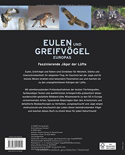 Eulen und Greifvögel Europas: Faszinierende Jäger der Lüfte im Porträt: Alle Infos bei Amazon