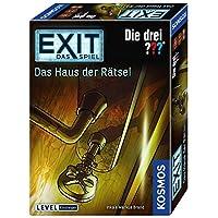 KOSMOS-Spiele-694043-EXIT-Spiel-drei-Haus-Rtsel-Brettspiel Kosmos 694043 – EXIT – Das Spiel – Das Haus der Rätsel – Die Drei??? Level: Einsteiger, Escape Room Spiel -