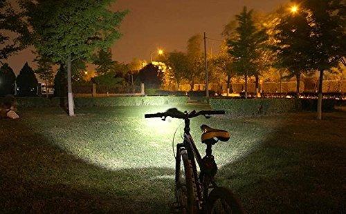 LED LUZ Linterna LáMPARA TORCH frontal Cabeza 7x CREE XM L T6 /Cree 7X LED de bicicleta /bici lámpara Luz LED frontal para manillar de bicicleta bicicletas (7 focos 3 modos) con 6x16850 batería y cargador & Llavero Linterna Torch