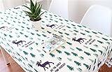 QsyyHome Frischer Stil Deer Große Größe Tischdecke Baumwolle und Leinen Schuhe Weiß TV-Schrank Bett Flagge Essen/Tee/TV-Tisch, Baumwolle/Leinen, Multi, 55 x 86inch (140 x 220cm)