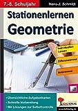 Stationenlernen Geometrie / Klasse 7-8: Übersichtliche Aufgabenkarten für das 7.-8. Schuljahr