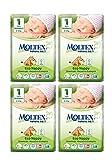 Packung mit 4 Moltex Newborn Windeln Größe 1 (4 x 28 Windeln)