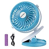 Battery Operated Clip on Fan for Baby Stroller Car Back Seat Laptop Travel