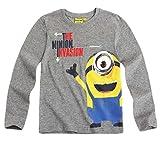 MINIONS Langarmshirt Kollektion 2015 Shirt 110 116 122 128 134 140 146 152 Herbst Winter Jungen Grau (110-116)