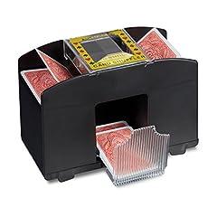 Relaxdays 10020521 Kartenmischmaschine Elektrische Mischmaschine