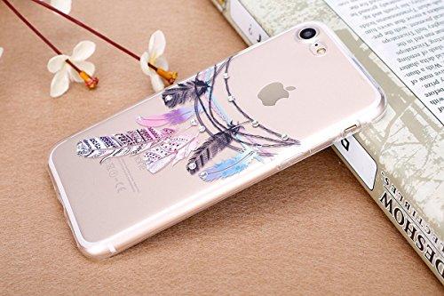 iPhone 7 Plus Silicone Case Transparen Slim,Bling Silicone Coque pour iPhone 7 Plus,Bumper Coque Housse Etui pour iPhone 7 Plus,EMAXELERS iPhone 7 Plus Coque Cristall Silicone TPU Case Slim Cover,iPho Feather 6