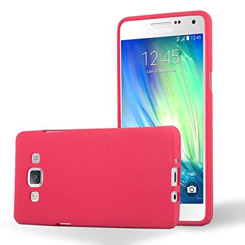 Preisvergleich Produktbild Cadorabo Hülle für Samsung Galaxy A5 2015 (5) - Hülle in Frost ROT – Handyhülle aus TPU Silikon im matten Frosted Design - Silikonhülle Schutzhülle Ultra Slim Soft Back Cover Case Bumper