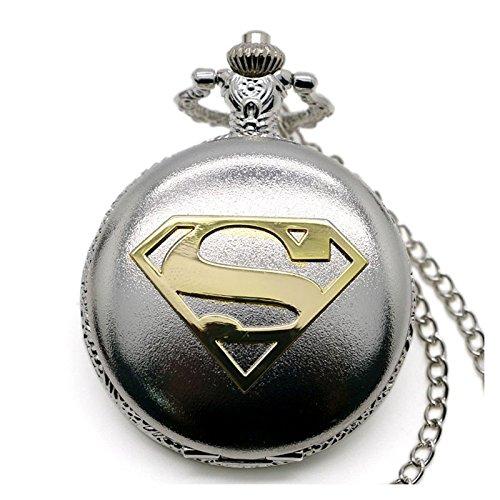 Superman Gold Logo poliert Silber Finish antik/Vintage Case -