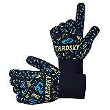 Yardsky Grillhandschuhe – hitzebeständig bis zu 500°C, Finger-Design zum Schutz gegen Schneiden, Silikon Aramidfasern, bequem und haltbar,Grillhandschuhe Feuerfest,Backhandschuhe, Topfhandschuhe, BBQ Handschuhe, Kochen Backen Backhandschuhe (1 Paar)