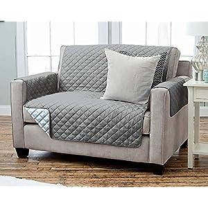 Kamaca Wende – Sesselschoner Sesselauflage Relax mit Armlehnen und Taschen Sessel Überwurf warm und weich zur Schonung…