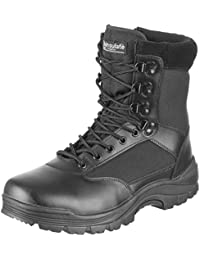 Mil-Tec Tactical Side Zip Botas Negro tamaño 12 UK / 13 US
