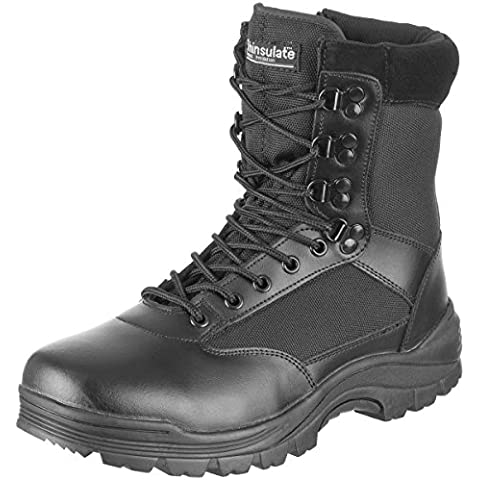 Mil-Tec Tactical Side Zip Botas Negro