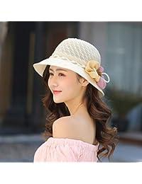 ERLINGSAN-MZ Summer Sun Hat femmes occasionnels chapeau solaire lunettes de soleil printemps été extérieur Mode sortie de pliage black S