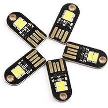DROK® 5pcs piccolo Nightlight USB LED con USB